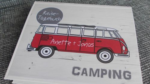 "Camping-Tagebuch ""Roter Bus"" INDIVIDUALISIERT"